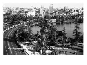 Los Angeles, California - Aerial View of Gen Douglas Mac Arthur Park by Lantern Press