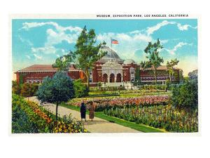 Los Angeles, California - Exposition Park, Exterior View of Museum by Lantern Press