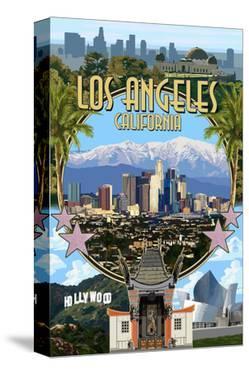 Los Angeles, California - Montage by Lantern Press