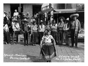 Los Angeles, California - Spanish-Mexican Dance Contest by Lantern Press