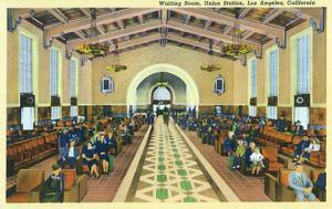 Los Angeles, California - Union Station Interior View of Waiting Room by Lantern Press