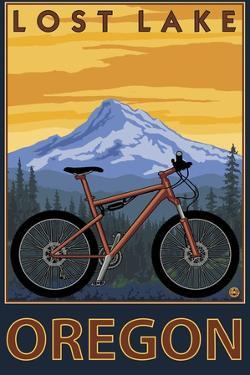 Lost Lake, Oregon - Mountain Bike Scene by Lantern Press