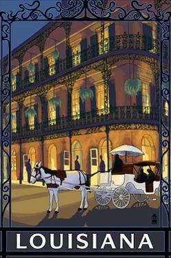 Louisiana - French Quarter by Lantern Press