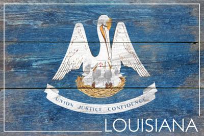 Louisiana State Flag - Barnwood Painting