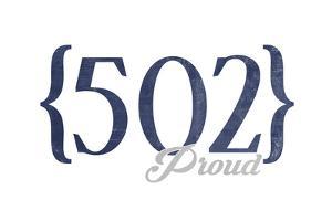 Louisville, Kentucky - 502 Area Code (Blue) by Lantern Press