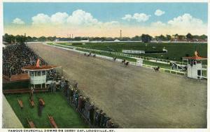 Louisville, Kentucky - Famous Churchill Downs on Derby Day Scene by Lantern Press