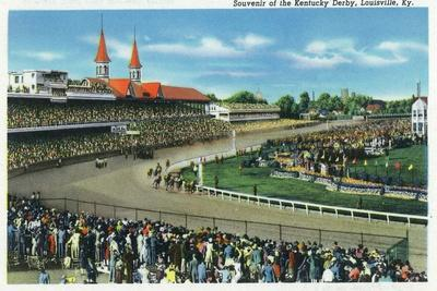 Louisville, Kentucky - General View of Crowds at the Kentucky Derby, c.1939