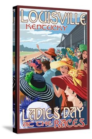 Louisville, Kentucky - Ladies Day at the Track Horse Racing