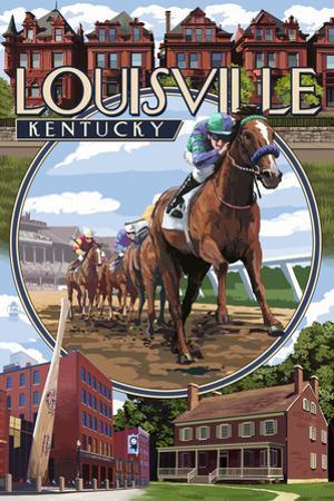 Louisville, Kentucky - Montage Scenes by Lantern Press