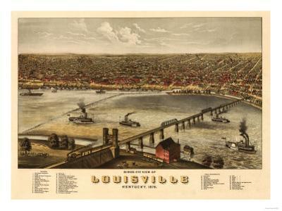 Louisville, Kentucky - Panoramic Map by Lantern Press