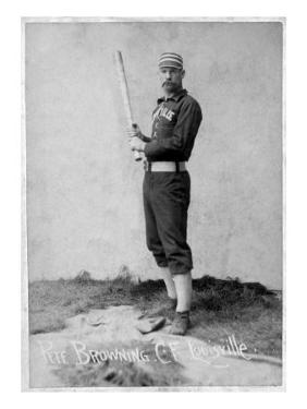 Louisville, KY, Louisville Colonels, Pete Browning, Baseball Card by Lantern Press