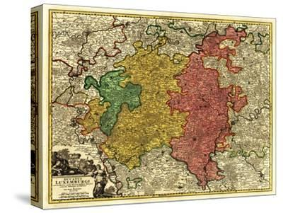 Luxembourg- Panoramic Map - Luxembourg by Lantern Press