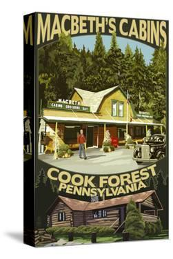 Macbeth's Cabins - Cook Forest, Pennsylvania by Lantern Press