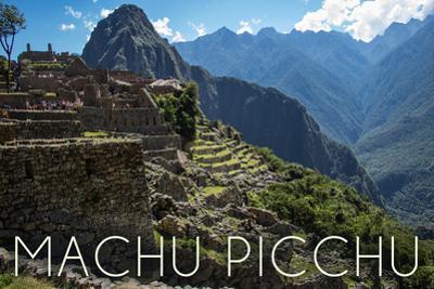 Machu Picchu, Peru - Inca Ruins of Machu Picchu by Lantern Press