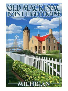Mackinac Island, Michigan - Old Mackinac Lighthouse by Lantern Press