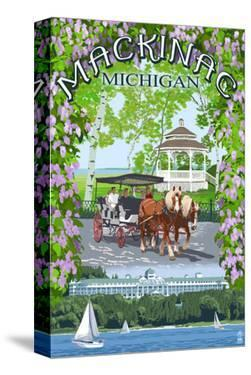 Mackinac, Michigan - Montage Scenes by Lantern Press