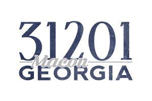 Macon, Georgia - 31201 Zip Code (Blue) by Lantern Press