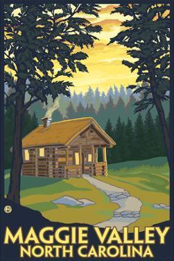 Maggie Valley, North Carolina - Cabin Scene by Lantern Press
