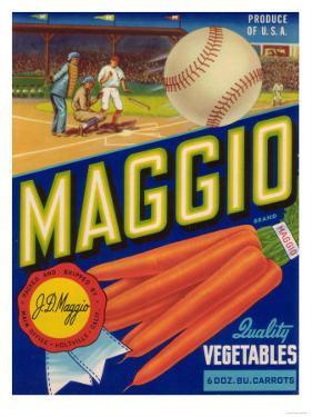 Maggio Vegetable Label - Holtville, CA by Lantern Press