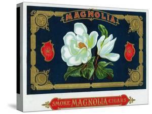 Magnolia Brand Cigar Box Label by Lantern Press