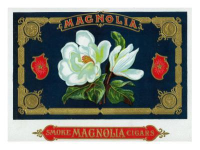 Magnolia Brand Cigar Box Label by Lantern Press