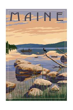 Maine - Lake Sunrise Scene by Lantern Press