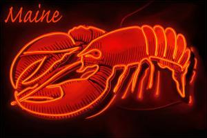 Maine - Neon Lobster Sign by Lantern Press