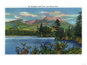 Maine - View of Mount Katahdin and Daicey Pond by Lantern Press