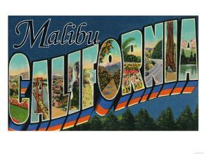 Malibu, California - Large Letter Scenes by Lantern Press