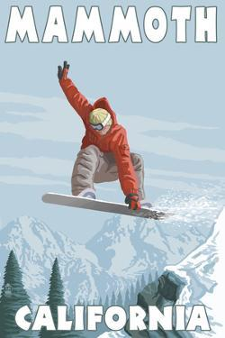 Mammoth, California - Snowboarder Jumping by Lantern Press