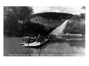 Mammoth Cave Nat'l Park, Kentucky - Green River Ferry by Lantern Press