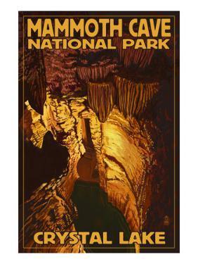 Mammoth Cave National Park, Kentucky, Crystal Lake by Lantern Press