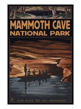 Mammoth Cave National Park, Kentucky, Echo River by Lantern Press