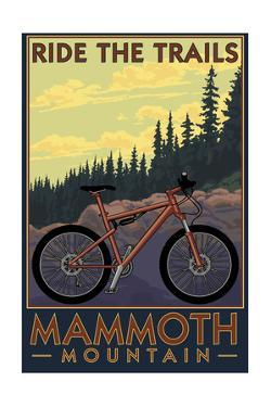 Mammoth Mountain, California - Mountain Bike Scene - Ride the Trails by Lantern Press
