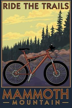 Mammoth Mountain, California - Mountain Bike Scene - Ride the Trails by Lantern Press