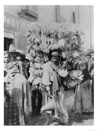 Man Selling Corn Husks for Wrapping Paper Photograph - Mexico by Lantern Press
