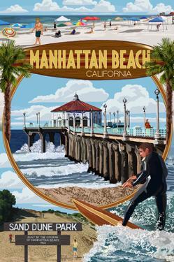 Manhattan Beach, California - Montage Scenes by Lantern Press