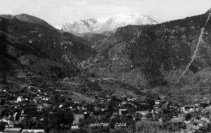 Manitou Springs, Colorado - Panoramic View of Town by Lantern Press