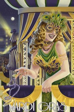 Mardi Gras Girl by Lantern Press