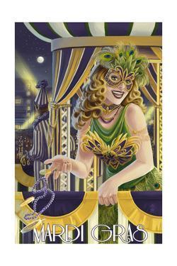 Mardi Gras Girl by Lantern Press