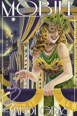 Mardi Gras - Mobile, Alabama by Lantern Press