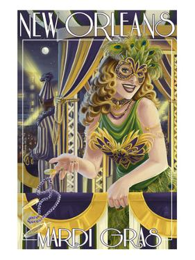 Mardi Gras - New Orleans, Louisiana by Lantern Press