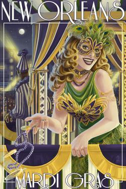 Mardi Gras - New Orleans, Louisiana by Lantern Press