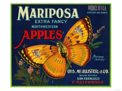 Mariposa Apple Label - San Francisco, CA