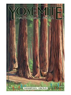 Mariposa Grove - Yosemite National Park, California by Lantern Press