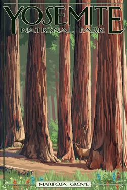 Mariposa Grove - Yosemite National Park, California by Lantern Press
