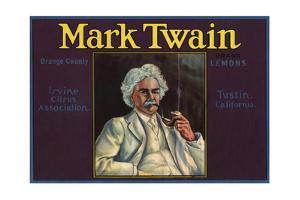 Mark Twain Brand - Tustin, California - Citrus Crate Label by Lantern Press