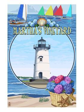Martha's Vineyard - Montage Scenes by Lantern Press
