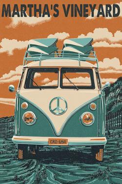 Martha's Vineyard - VW Van by Lantern Press