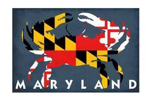 Maryland - Crab Flag by Lantern Press